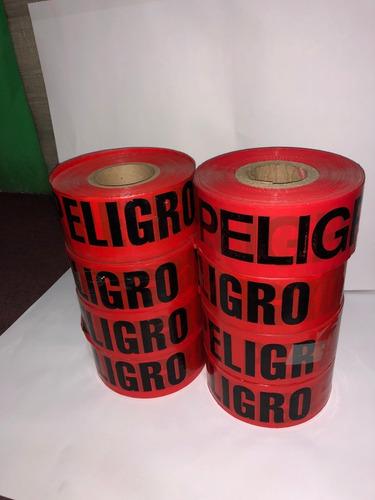 juego con 8  cintas roja peligro de 305 mts