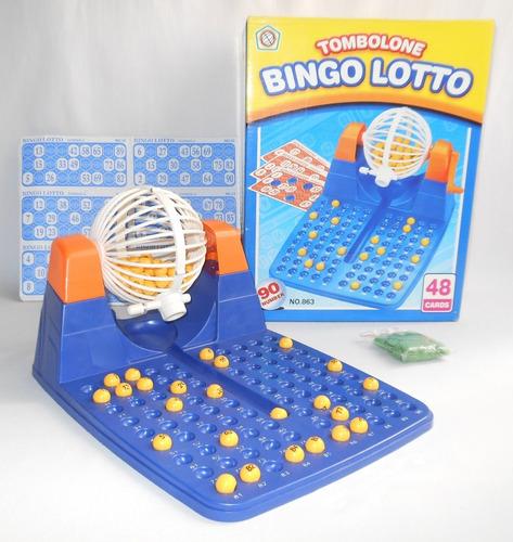 juego con caja. bingo 90 números tómbola lotto    2 5