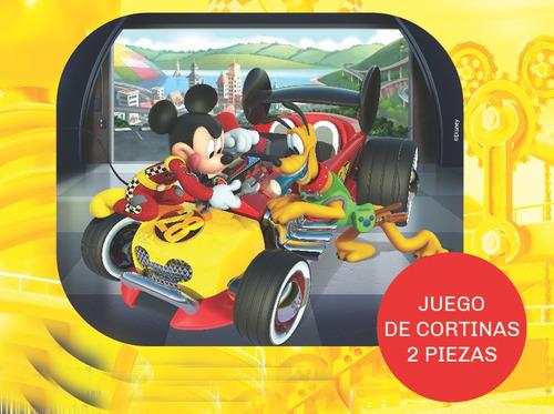 juego cortina parasol auto lateral plegable disney mickey