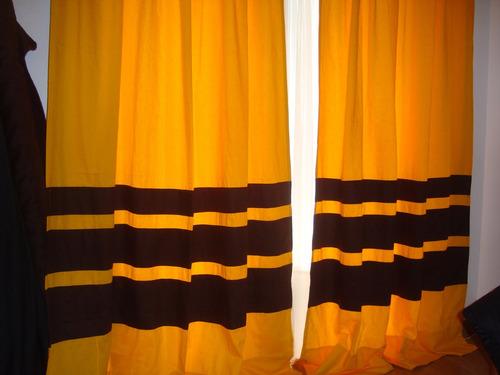 juego cortinas gabardina diseños personalizados 20 colores