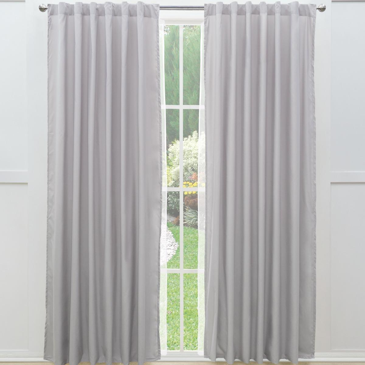 Juego cortinas largas viasoft gris claro vianney 479 for Cortinas largas