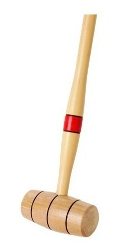 juego croquet madera pintada palos arcos estacas bolso baum