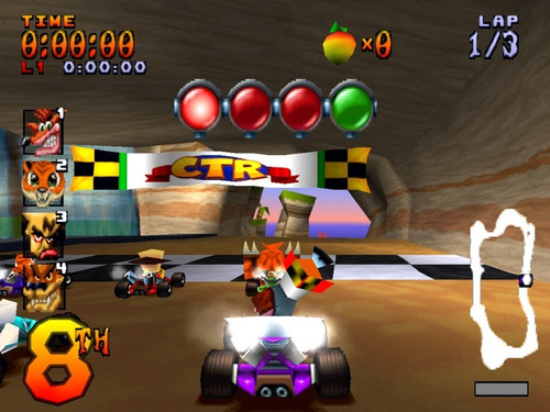 juego ctr crash team racing ps1 playstation celular android