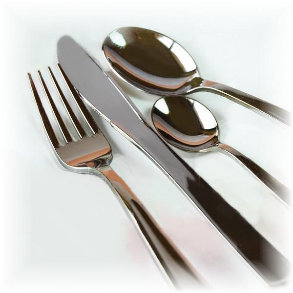 Juego cubiertos de pl stico plateados buffet eventos - Ikea cubiertos cocina ...