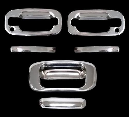juego cubre manijas cromadas chevrolet silverado 1999 - 2006