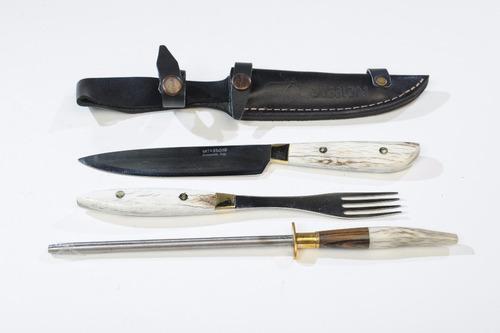 juego cuchillo tenedor chaira mission comer fabricante