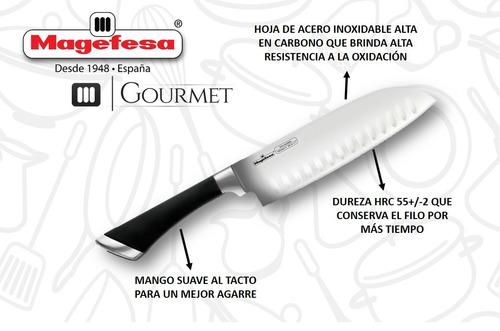 juego de 06 cuchillos - gourmet magefesa