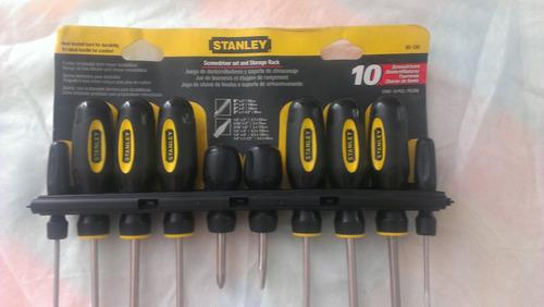 juego de 10 destornilladores stanley modelo 60-100