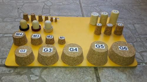 juego de 100 tapones de corcho para vino y licor