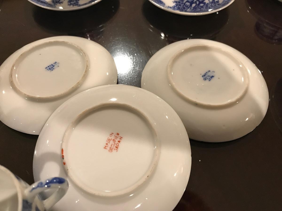 Juego De 11tazas/10 Platos Porcelana Antiguos Occupied Japan - $ 1,390 00