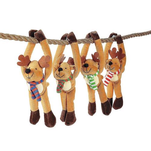 juego de 12 renos navideños colgantes de lujo. navidad