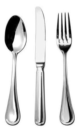 juego de 12 tenedor cuchillo cuchara acero inoxidable 18/10