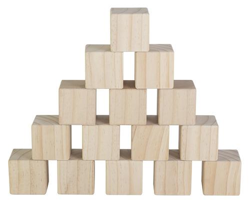 juego de 15grandesbloques de madera cubos de madera n
