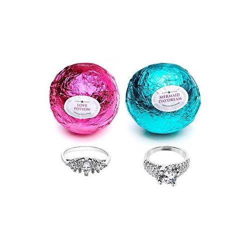 juego de 2 bombas de baño con sirena love potion con anillo