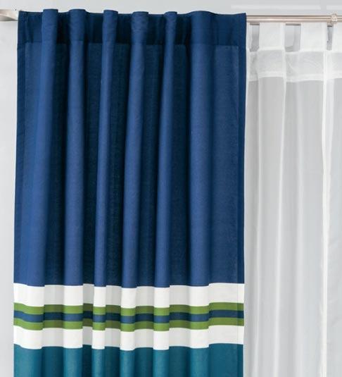 Juego de 2 cortinas atlanta azules vianney envio gratis for Cortinas azules para salon