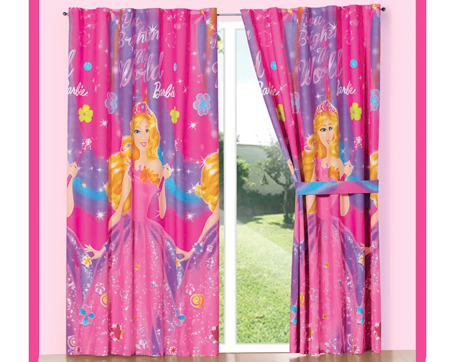 Juego de 2 cortinas barbie secret concord para ni as en mercado libre - Cortinas para nina ...