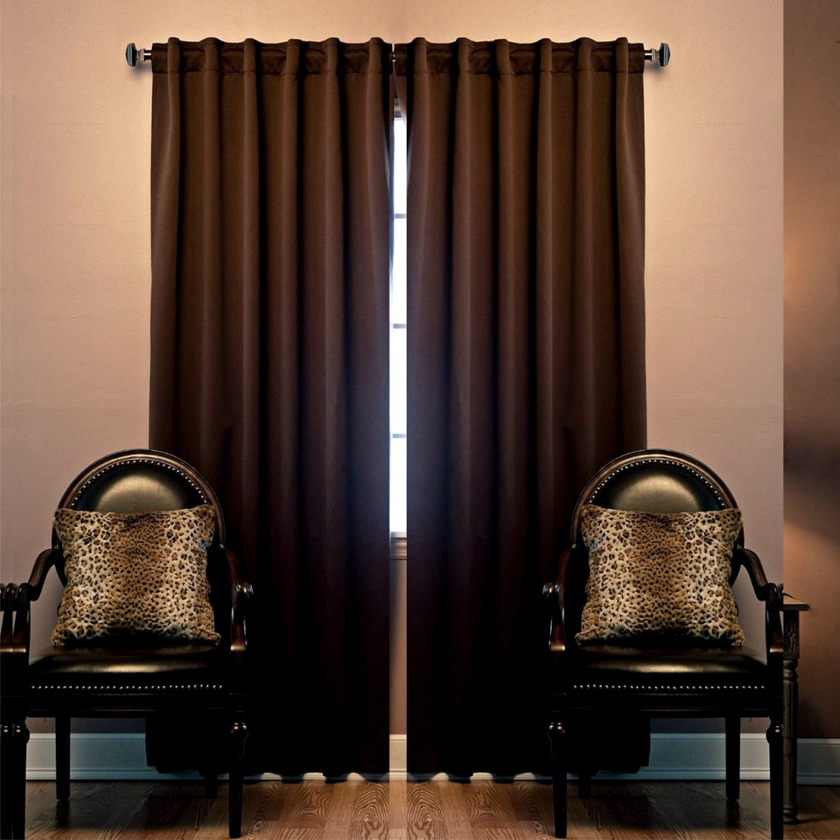 Juego de 2 cortinas black out cocoa vianney envio gratis for Cortinas black out precios