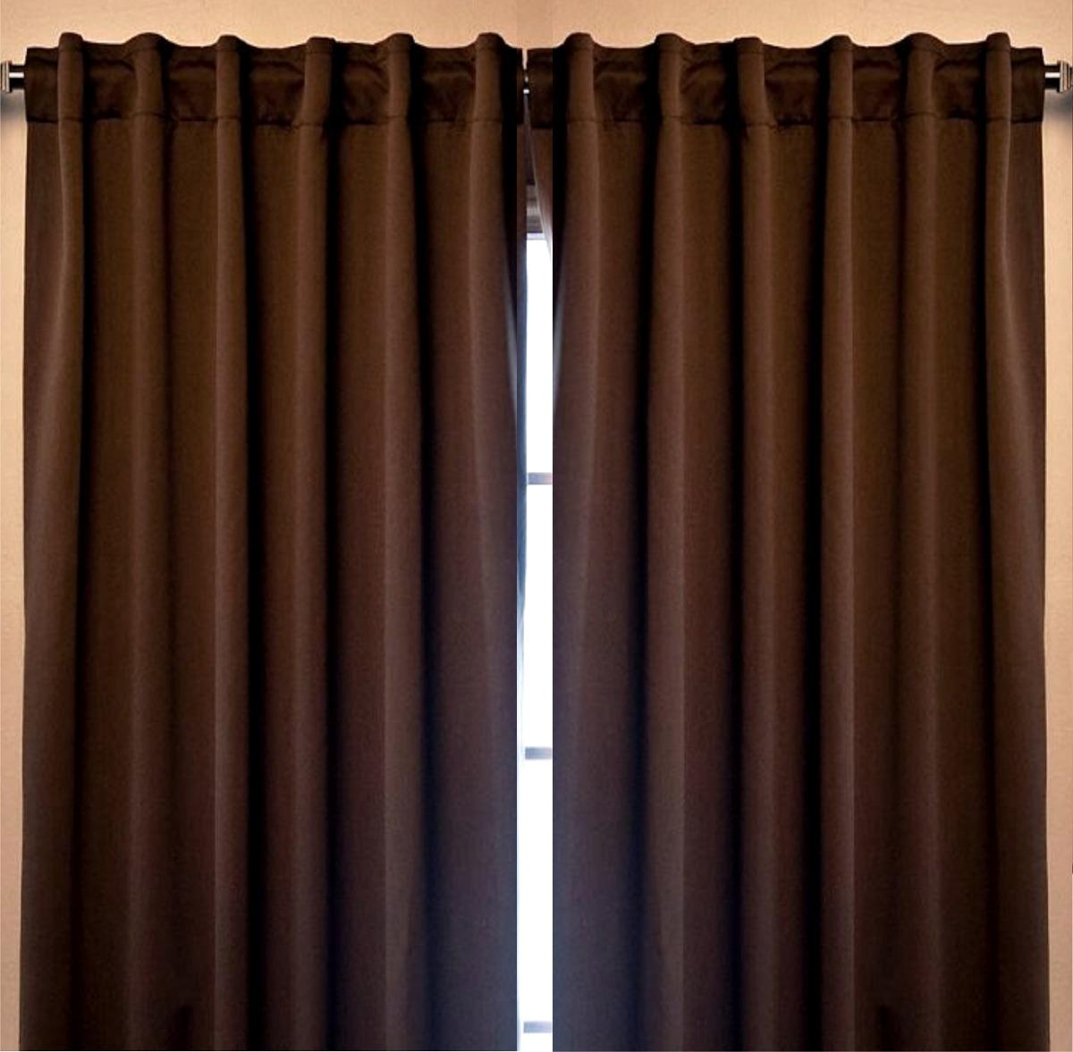 Juego de 2 cortinas blackout cocoa vianney envio gratis en mercado libre for Donde venden cortinas