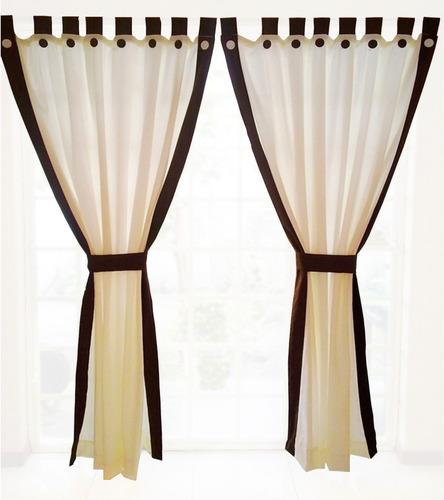 juego de 2 cortinas con botones decorativos. envio gratis