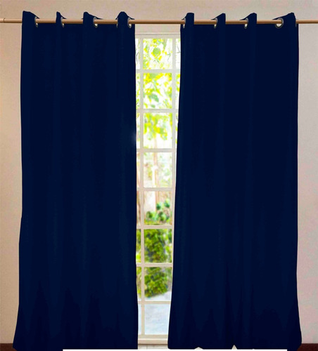 juego de 2 cortinas con ojillos metálicos 1.70 x 2.00