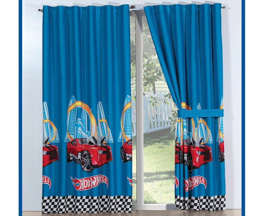 Juego de 2 cortinas hot wheels racing concord para ni os - Hacer cortinas infantiles ...