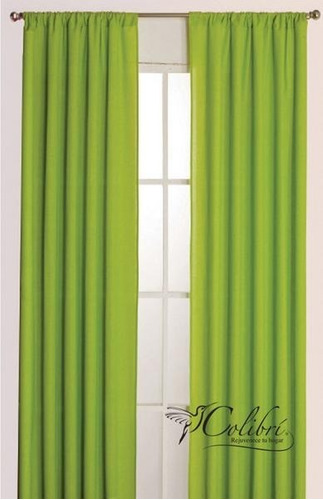 juego de 2 cortinas lisas varios colores envio gratis
