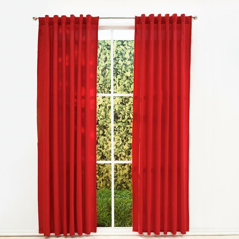 juego de 2 cortinas rojas viasoft rojo vianney envio gratis 54900 en mercado libre - Cortinas Rojas