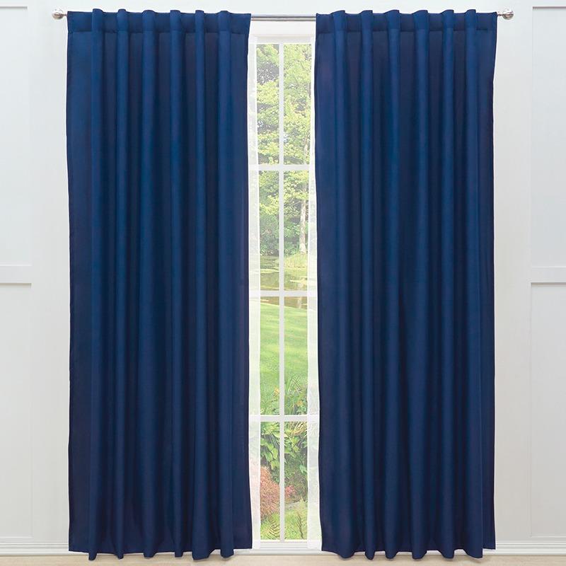 Juego de 2 cortinas viasoft azul marino vianney envio gratis en mercado libre - Cortinas azul marino ...