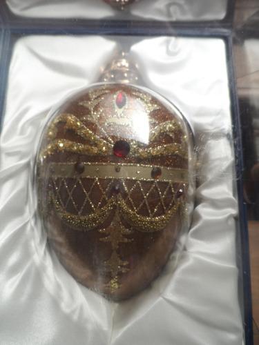 juego de 2 esferas elegantes decoradas a mano