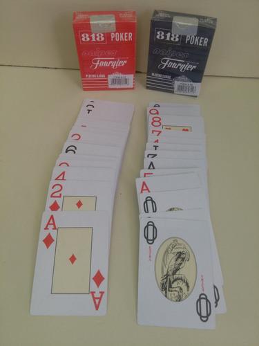 juego de 2 masos cartas fournier 818 poker roja y azul