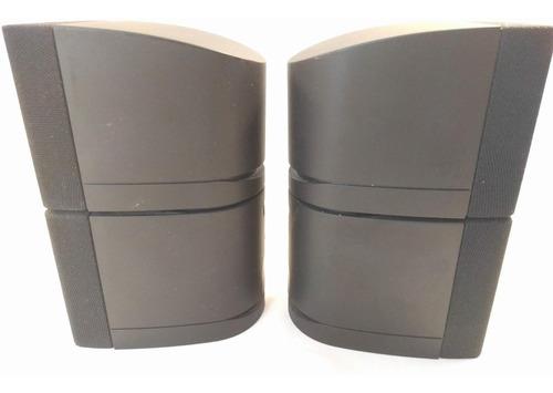 juego de 2 parlantes dobles bose cube negros acoustimass
