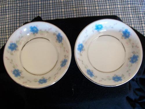 juego de 2 pequeños bowls de porcelana china