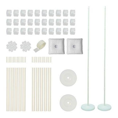 juego de 2 soportes de columna de globo con base y barra de