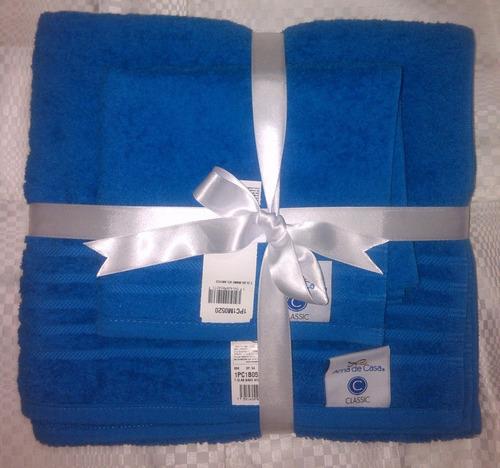 juego de 2 toallas classic ama de casa tamaño baño y mano