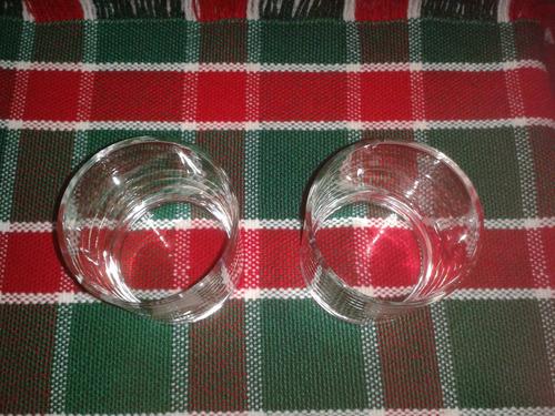 juego de 2 vasos de vidrio para ron