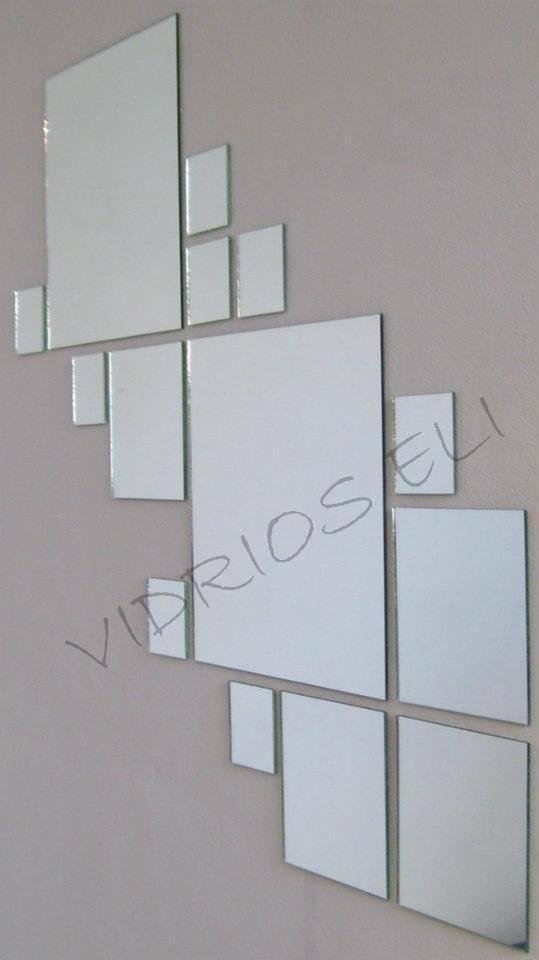 Juego de 20 espejos redondos o cuadrados ideal decoraci n for Donde venden espejos