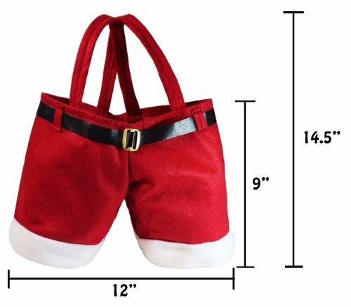 juego de 3 bolsas p/regalo tipo pantalones de santa. navidad