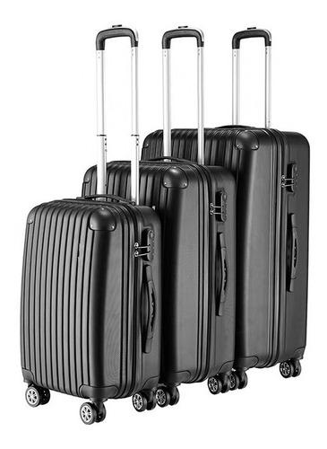 juego de 3 maletas de viaje duras con 8 ruedas