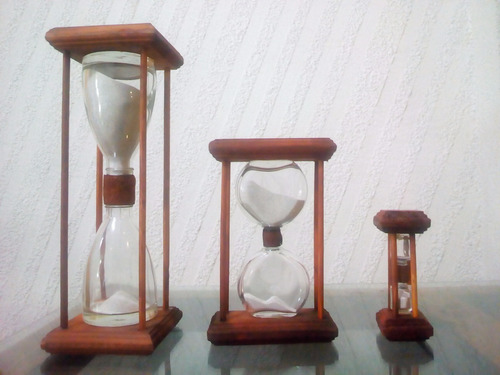 juego de 3 relojes artesanal 10, 5 y 1  minutos envio gratis