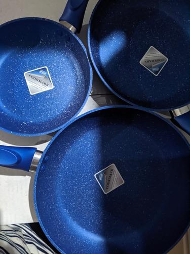 juego de 3 sartenes madrid, kokken+, color azul