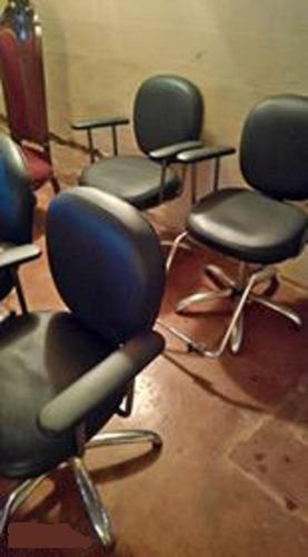 juego de 3 sillas para peluquería o barbería, bs 35 millones