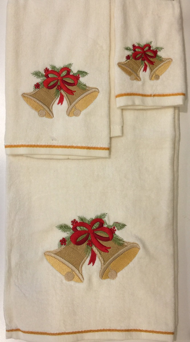 Juego de 3 toallas de algod n 100 piezas de navidad jingl 1 en mercado libre - Toallas de algodon ...