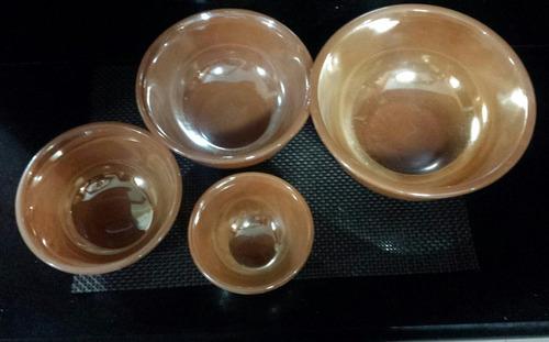 juego de 4 bols o escudillas de vidrio resistentes