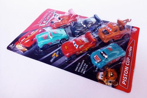 juego de 4 carritos, cars , carros de plastico para pista