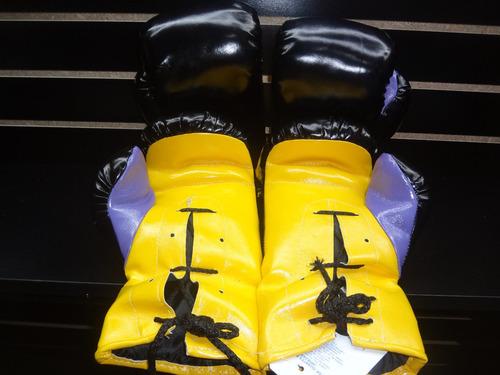 juego de 4 guantes de box vinil 16oz palomares genuino