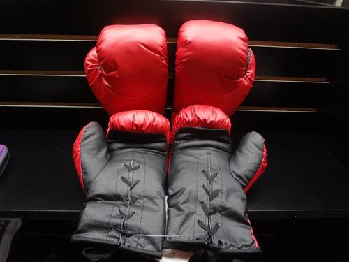 juego de 4 guantes de box vinil 8oz palomares genuino