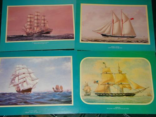 juego de 4 posters navales