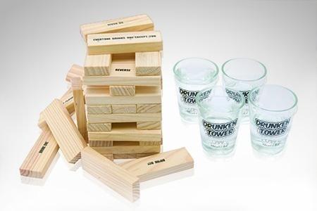 Juego De 4 Shots Jenga Para Previa Juego De Mesa Tequila 329