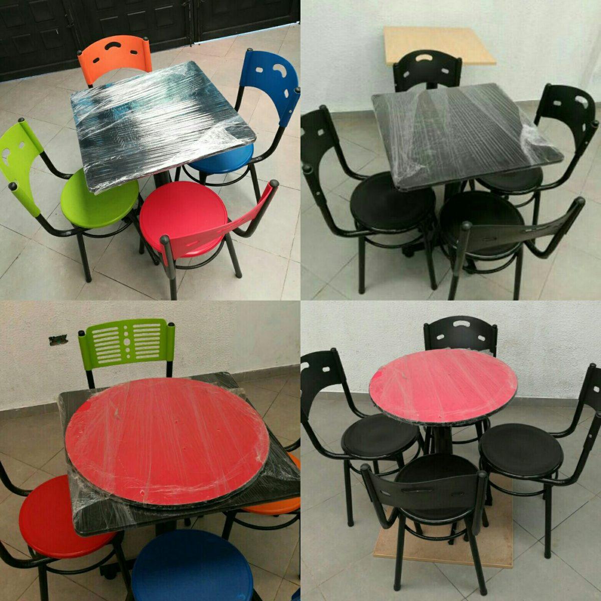 Juego De 4 Sillas Karla Y Mesa Para Restaurante Bar Cafeter  # Muebles Rimax Bucaramanga