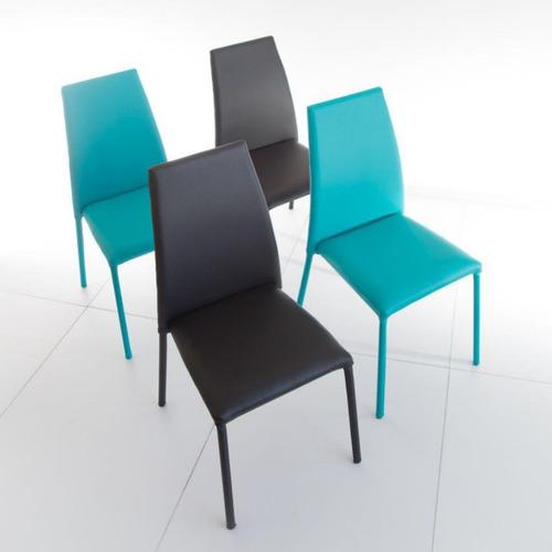 juego de 4 sillas venecia color negro turquesa
